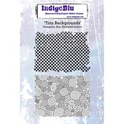 "IndigoBlu Cling Mounted Stamp 5""X4""-Tiny Background"