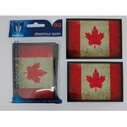 100 Max Pro Iconic Flag of Canada Maple Leaf Shuffle-Tech Sleeves (fits MTG / Force of Will)