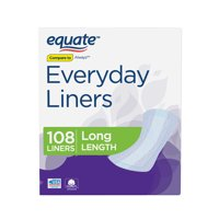 Equate Everyday Liners, Long, 108 Count