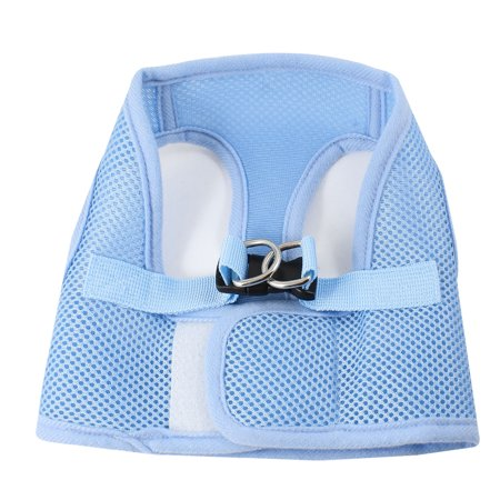 Unique Bargains Hook Loop Netty Style Adjustable Pet Puppy Dog Harness Vest Size XS Chest Girth 11