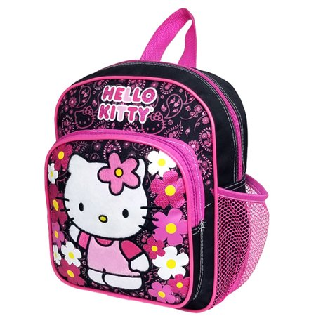 Hello Kitty Flower Black Mini Backpack #82595