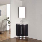 Bauhaus Bath Diara 31'' Single Corner Bathroom Vanity Set with Mirror
