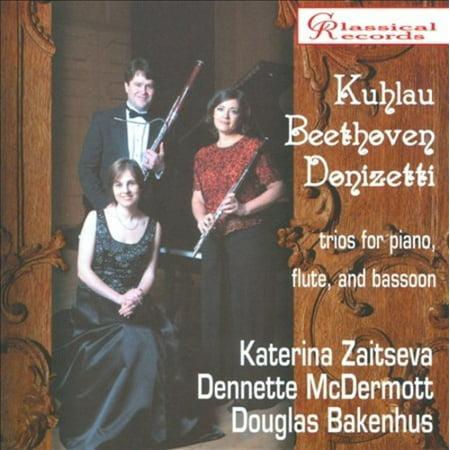 KUHLAU, BEETHOVEN, DONIZETTI: TRIOS FOR PIANO, FLUTE & (Bassoon Trio)