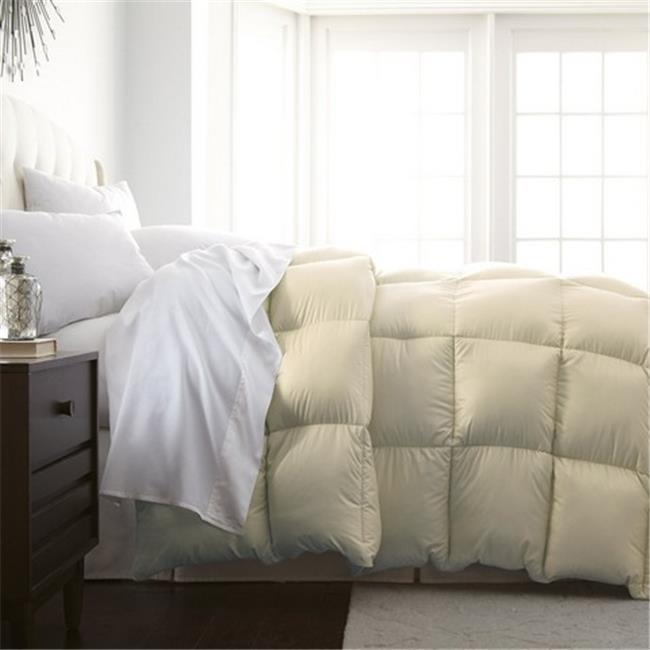 Luxury Home Milano Collection Luxurious Premier Quality Down Alternative Comforter, Ivory - Full - Queen