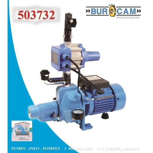Bur-Cam Pumps 503732 Convertible Jet Pump . 5 Hp