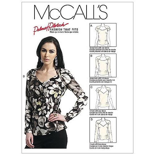 McCall's Pattern Misses' Tops, B5 (8, 10, 12, 14, 16)