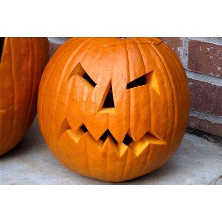LAMINATED POSTER Orange Halloween Scary Jack-o-lantern Pumpkin Poster Print 24 x 36