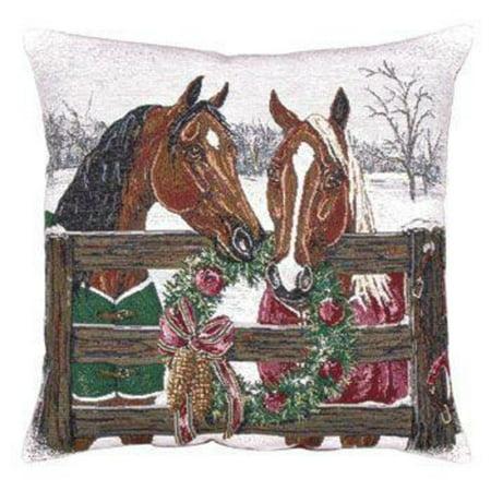 Decorative Horse Pillows : Horse s Holiday Decorative Christmas Decorative Throw Pillow 17