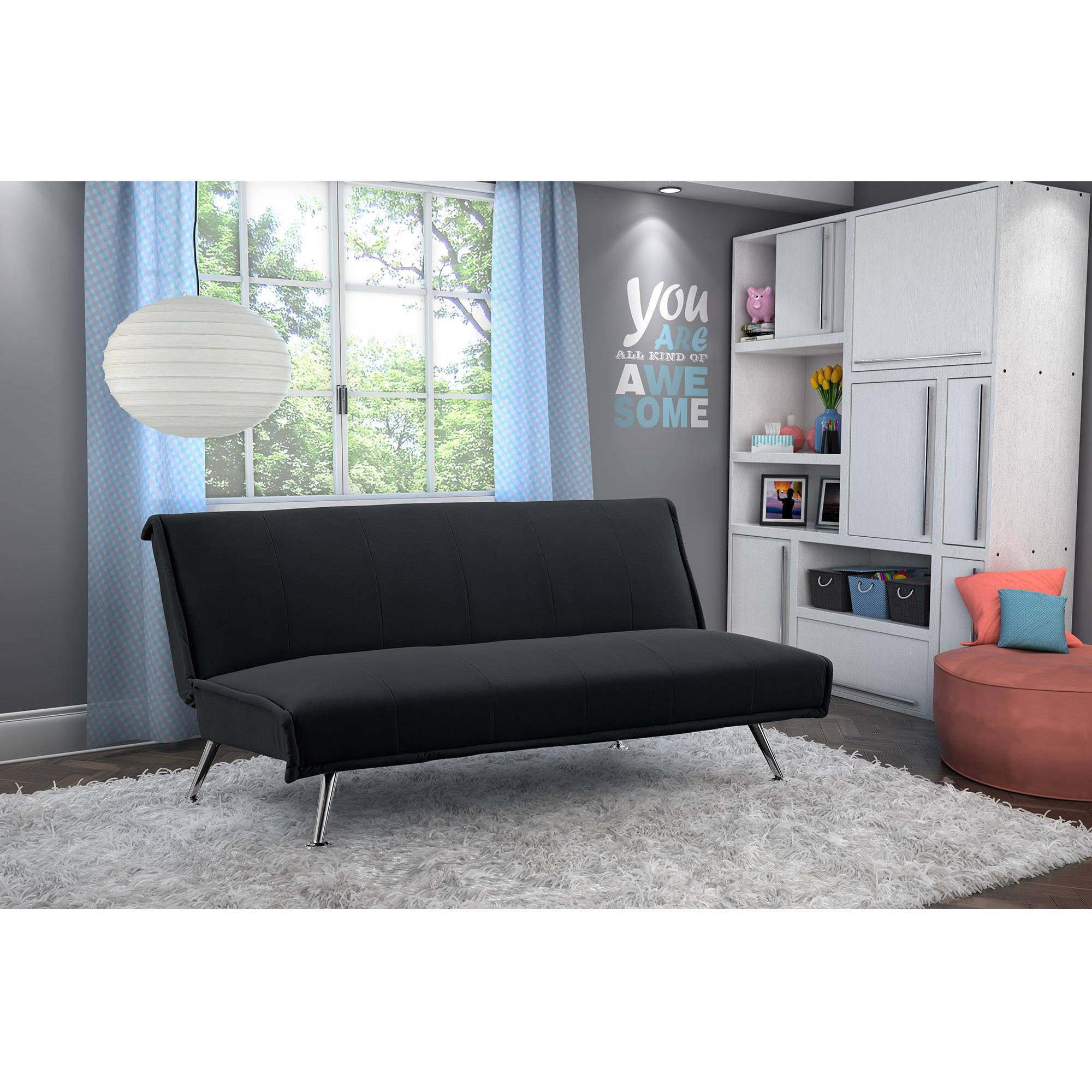 Your Zone Harlee Microfiber Junior Futon Walmart