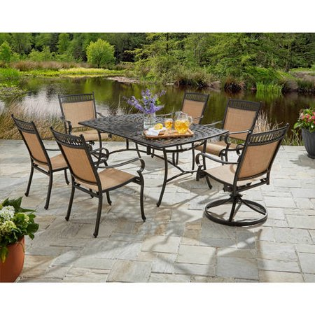 Better homes and gardens warrens 7 piece alumicast dining set 7 better homes and gardens