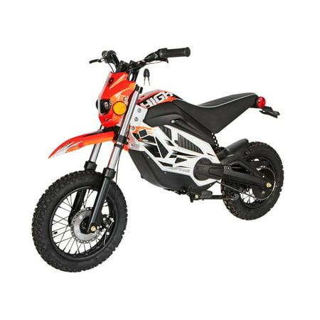 "T4B HIGH99 Kids Starter Mini Dirt Bike, 850W Brushless Electric Motor, Off-Road Scooter, 36V12Ah Motocross 18"" Wheel for Kids 9-yo and above - Orange - image 7 de 7"