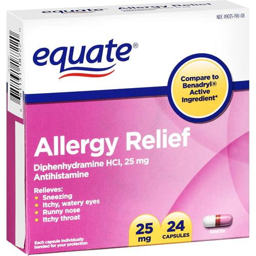 Antihistamine Drugs Equate: Allergy Medica...