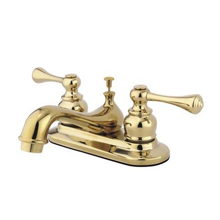 Kingston Bathroom Sink Faucet - Kingston Brass English Vintage Centerset Bathroom Sink Faucet with ABS Pop-Up Drain