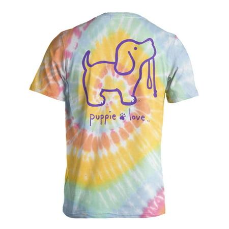 539e50e24572 Puppie Love - Tie Dye Pup 2 Pastels Help Rescue Dogs T-shirt - Walmart.com
