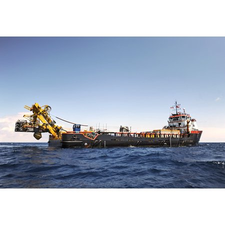 Offshore Star - LAMINATED POSTER The New Breed offshore supply vessel HOS Shooting Star uses dynamic positioning to maintain its posi Poster Print 24 x 36
