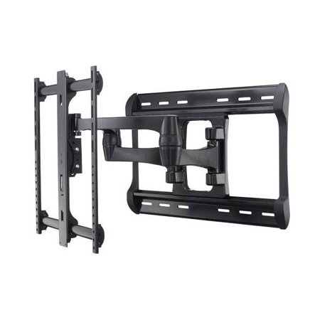 sanus full motion wall mount dual extension arms for 42 90 flat panel tvs extends 28. Black Bedroom Furniture Sets. Home Design Ideas