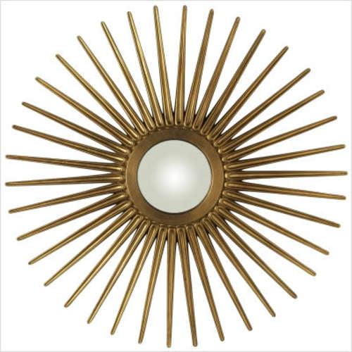 Cooper Classics Sunburst Mirror in Antique Gold