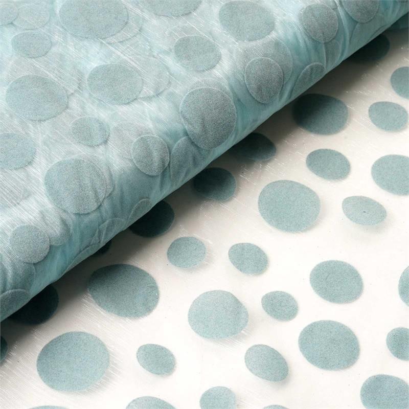 "Efavormart 54"" x 10 yards Velvet Dots on Organza Fabric Bolt"