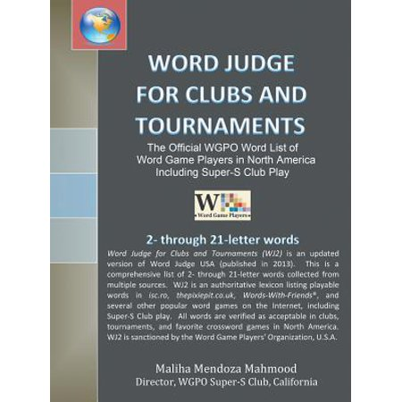 Word Judge for Clubs and Tournaments : The Official Wgpo Word List for Word Game Players in North America Including Super-S Club Play (Halloween Words List)