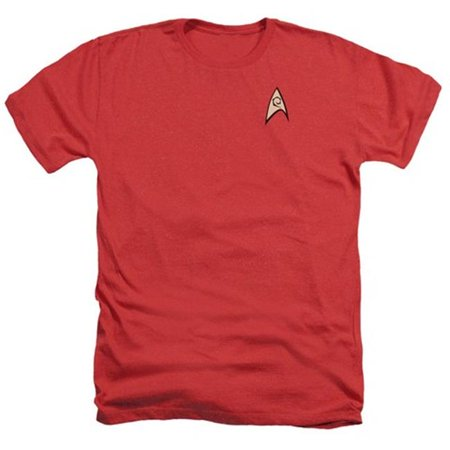 Star Trek-Engineering Uniform - Adult Heather Tee - Red, Extra Large - image 1 of 1