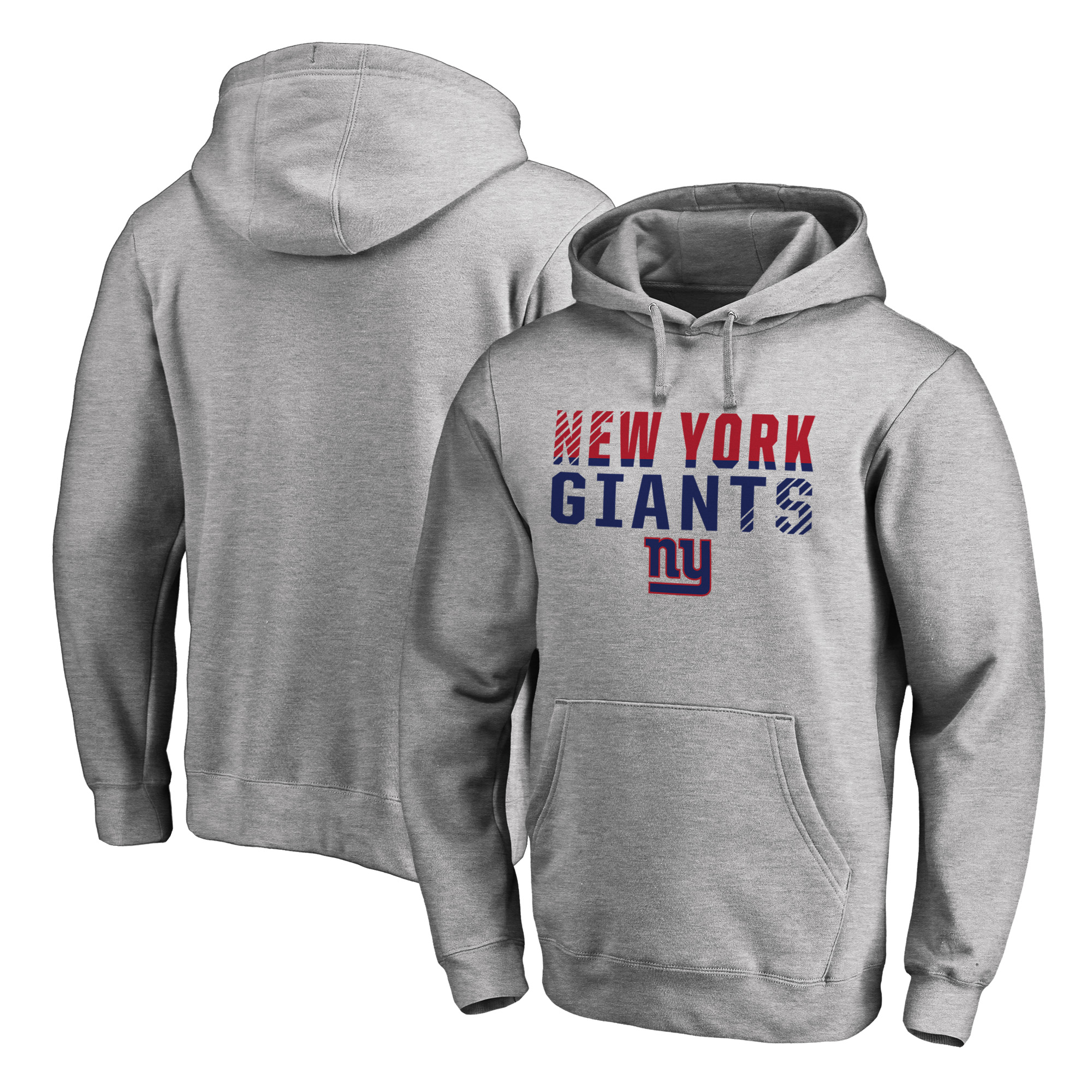 New York Giants NFL Pro Line by Fanatics Branded Iconic Collection Fade Out Pullover Hoodie - Ash