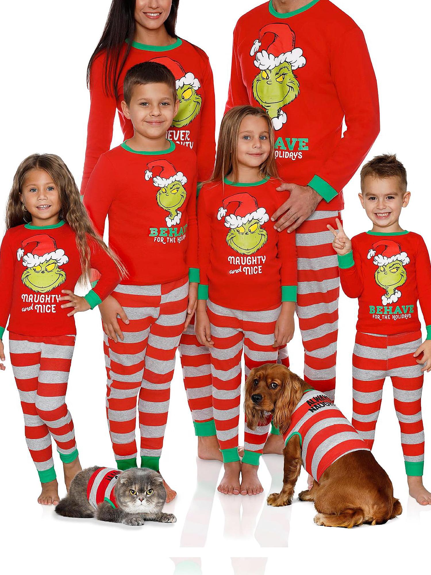 Details about  /Christmas Xmas Family Matching Pajamas Set Kids Baby Adults Sleepwear Nightwear