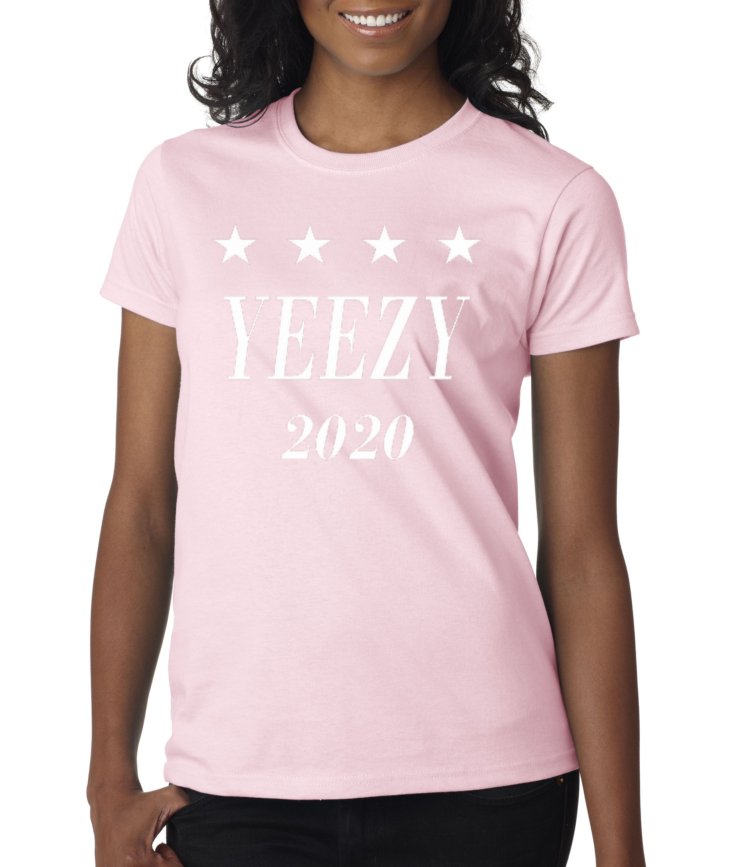 0ee2a52c255 Allwitty 1009 - Women's T-Shirt Yeezy 2020 Kanye West President Election