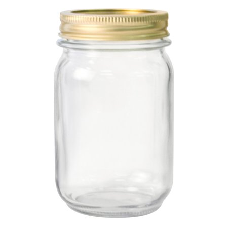 Anchor Hocking Pint Glass Canning Jar Set, 12pk regular mouth - Gold Mason Jars