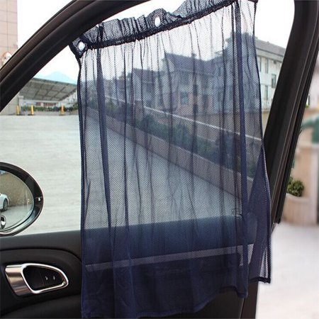 1 PAIR Universal shade curtain Car Window Protection Mesh UV Block Curtain Sunshade (Best Window Treatment To Block Sun And Heat)