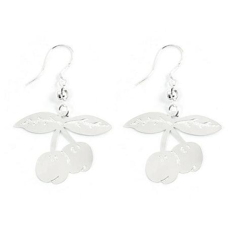 Unique Bargains Women Ear Ornament Cherry Dangling Fish Hook Earrings Ear Rings Pair