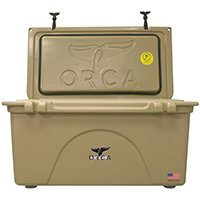 ORCA ORCT075 Roto-Molded Cooler, 75 qt, Up To 10 Days Ice Retention Time, Premium Insulation, 35 in L x 18 in W, Tan