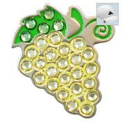 Bella Crystal Golf Ball Marker & Hat Clip - White Grapes