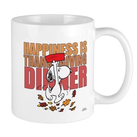 Peanuts Thanksgiving Dinner (CafePress - Peanuts Happiness Thanksgiving Dinner Mug - Unique Coffee Mug, Coffee Cup)