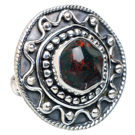 Ana Silver Co  - Large Bloodstone Ring Size 6 75 (925