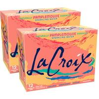 LaCroix Sparkling Water - Pamplemousse 2/12pk/12 fl oz Cans, 24 / Pack (Quantity)