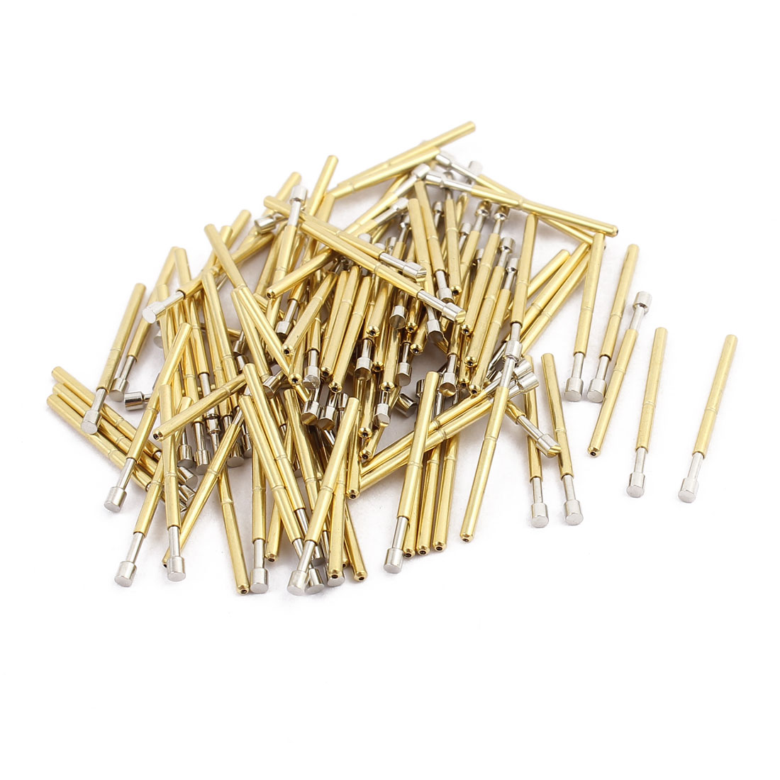 100pcs  P75-G2 1.0mm Dia 16.6mm Length Metal Spring Pressure Test Probe Needle