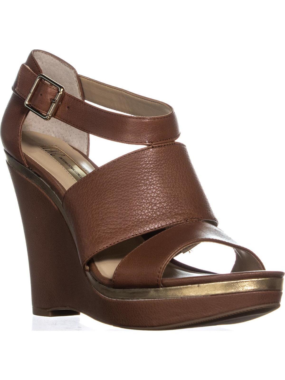 I35 Camie Wedge Platform Ankle Strap Sandals