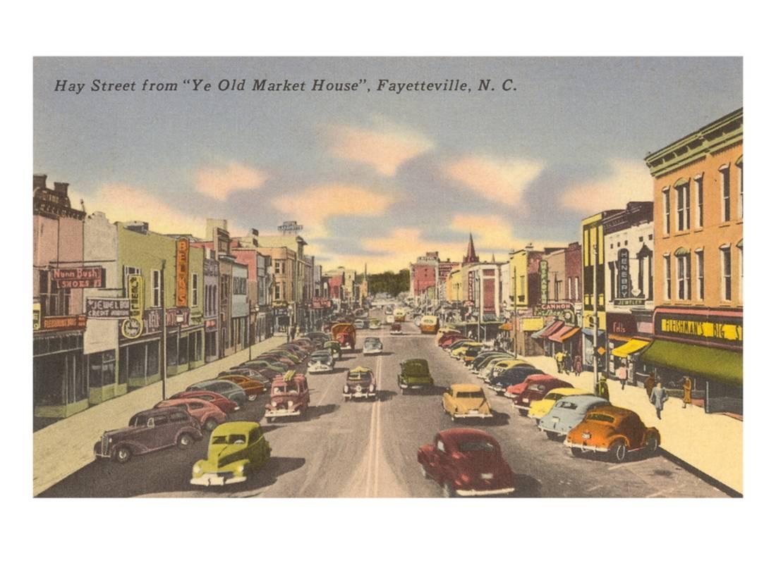 Hay Street Fayetteville North Carolina Print Wall Art