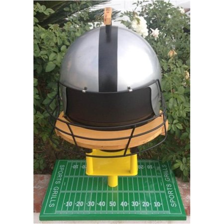 Sports Grills Touch Down 3000 Portable Charcoal BBQ, Silver & Black