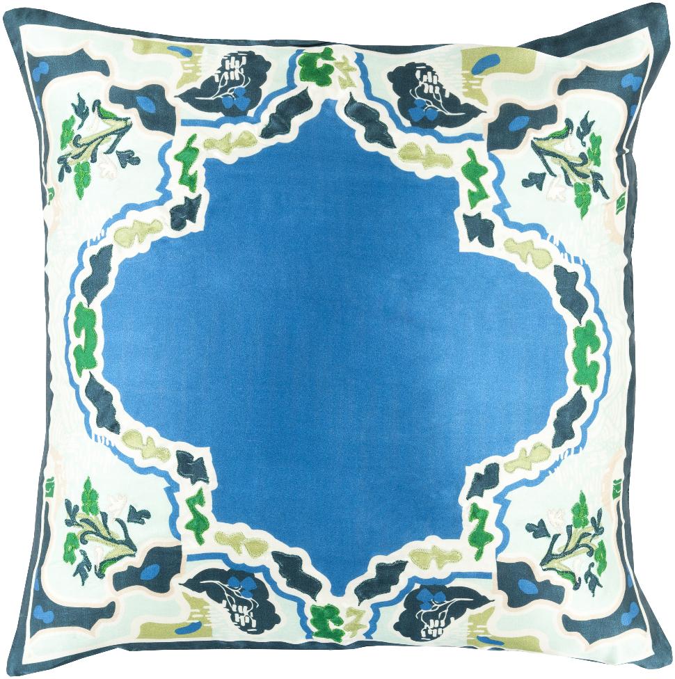 "Surya Geisha Silk Large Square Pillow 5""x22""x22"" GE001-2222D"