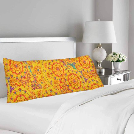 GCKG Beautiful Flower Floral Body Pillow Covers Case Protector 20x60 inches - image 1 of 2