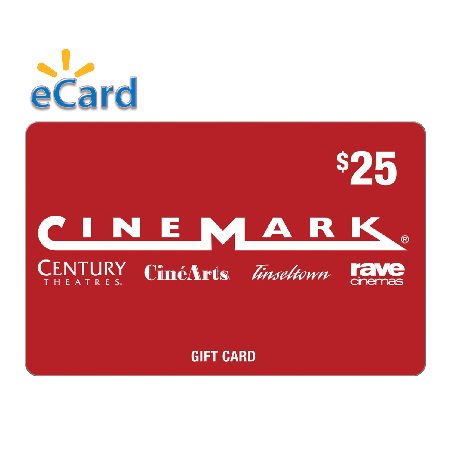 Cinemark $25 Gift Card (email Delivery)