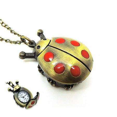 Bug Watch - Lady Bug Watch Pendant 30