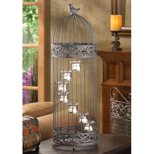 Birdcage Staircase Candle Holder by SMC D1232 by SMC / SLC SmartLivingCorp.com