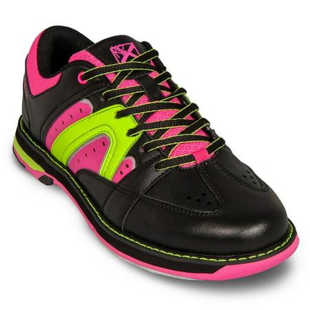 kr strikeforce curve scarlet/paisley women's bowling shoes, size