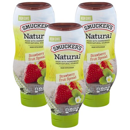 (3 Pack) Smucker's Natural Strawberry Fruit Spread, 19-Ounce