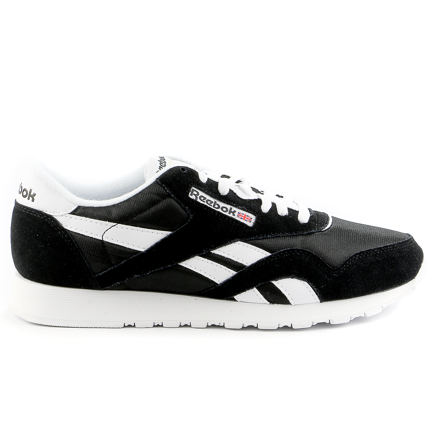 Reebok Classic Nylon Running Shoe Black White Mens by Reebok
