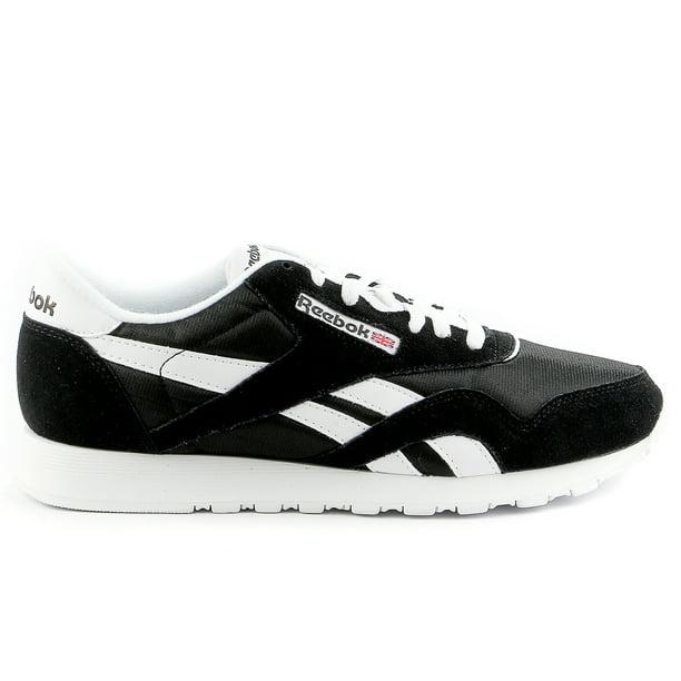 Reebok Classic Nylon Running Shoe BlackWhite Mens