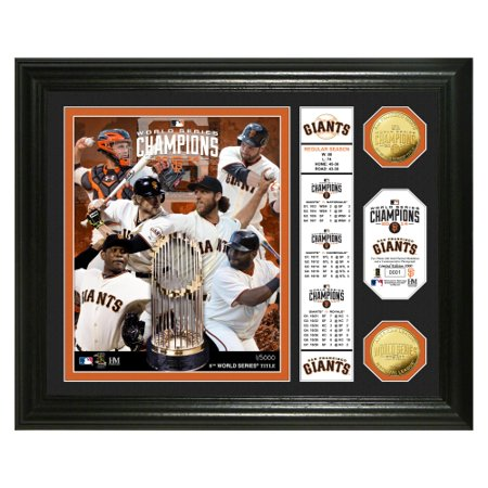 San Francisco Giants 2014 World Series Champions Banner Gold Coin Photo Mint - No Size