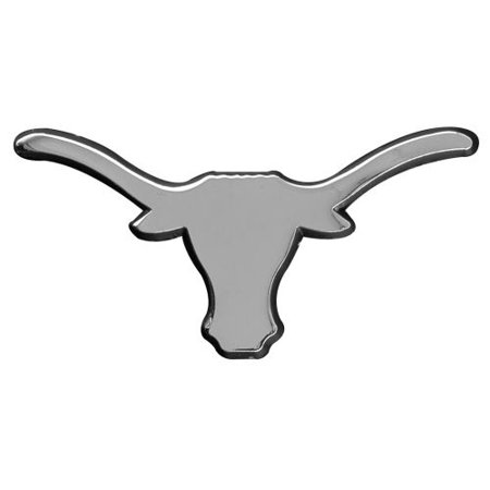 University of Texas UT Longhorns Premium Solid Metal Chrome Plated Car Auto Emblem-Stockdale